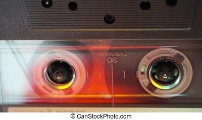 durchsichtig, tonkassette