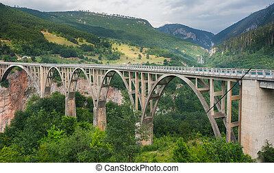 Durdevica arched Tara Bridge - Montenegro.