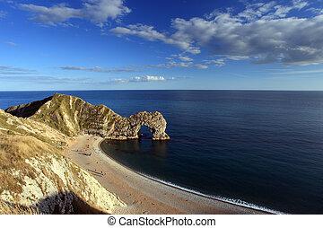 Durdle Door Arch Jurassic Coast Dorset England
