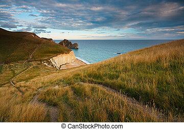Durdle Door on Jurassic coast in Dorset, UK.