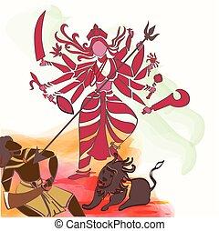 Durga Hindu goddess.