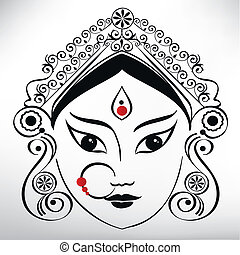 durga, illustration