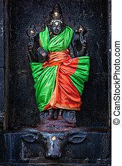 Durga image, Airavatesvara Temple, Darasuram