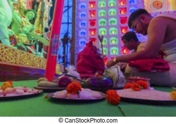 Durga Puja festival, Howrah, West Bengal, India