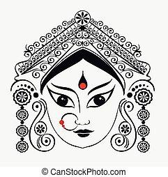 Durga, Saraswati, Lakshmi. - Durga, Saraswati, Lakshmi in...