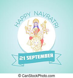 durga, september, 21, navratri