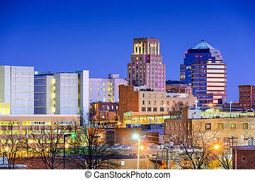Durham, North Carolina Skyline - Durham, North Carolina, USA...