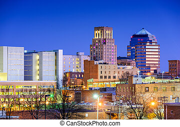 durham, skyline, carolina norte