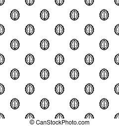 Durian fruit pattern vector