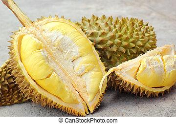 Durian fruit ripe for eaten