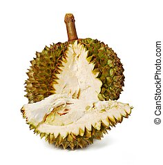 durian., gigante, tropicale, fruit.
