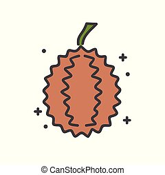 Durian icon on white background for graphic and web design, Modern simple vector sign. Internet concept. Trendy symbol for website design web button or mobile app.