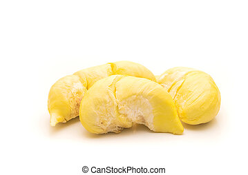 Durian , King of all fruits isolated on white.