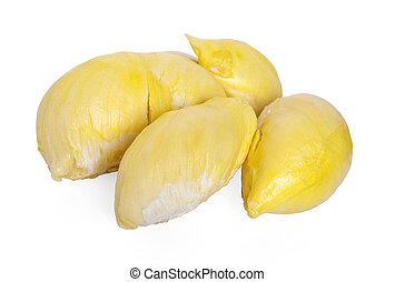 Durian , King of Fruits isolated on white background.