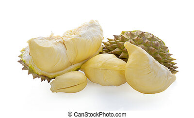 Durian , King of Fruits isolated on white background