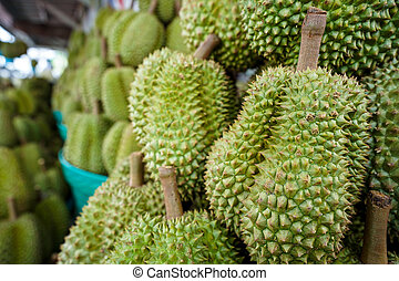 Durian on the basket
