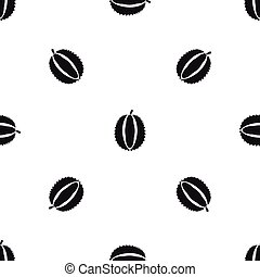 Durian pattern seamless black