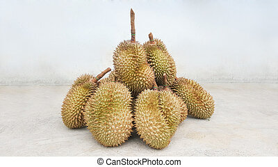 durians delicious fruits in thailand
