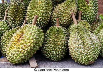 Durians, king of the fruits in Thailand