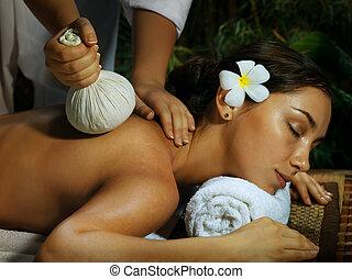 during massage
