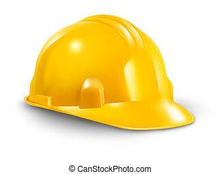 duro, cappello costruzione