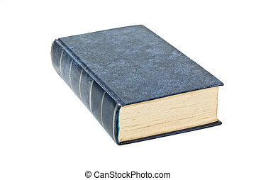 duro, cubierta de libro, aislado