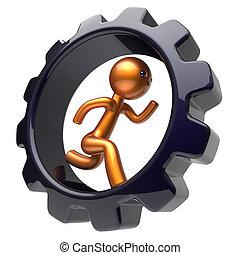 duro, empresa / negocio, trabajo, carácter, gearwheel, ...