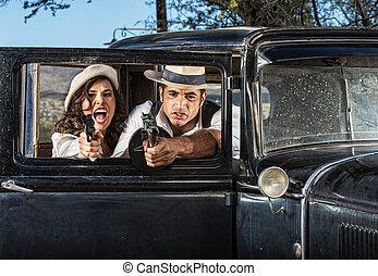 duro, varón y hembra, gángsteres