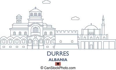 Durres City Skyline, Albania - Durres Linear City Skyline,...