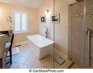 dusche badezimmer modern wanne runder badezimmer. Black Bedroom Furniture Sets. Home Design Ideas