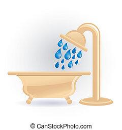 dusche, ikone