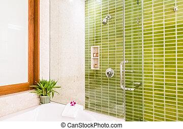 dusche, kasten, glas