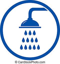 duschkopf, ikone