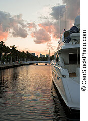 Dusk at Fort Lauderdale, Miami