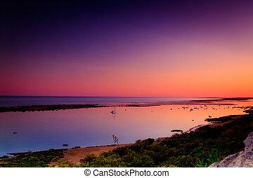 Dusk in Algarve beach
