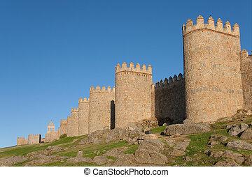 Dusk in Avila, Castilla y Leon (Spain)