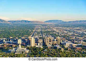Dusk over Salt Lake City