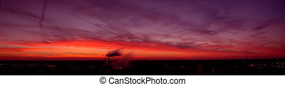 Dusk View - Champaign, IL view at dusk.