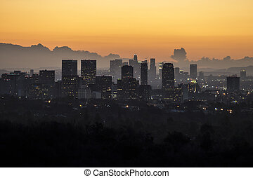 Century City, Beverly Hills and Downtown Los Angeles