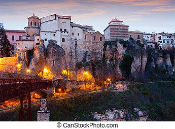 Dusk view of  Cuenca