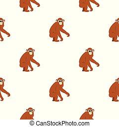 Dusky leaf monkey pattern seamless