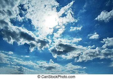 Dusky sky background