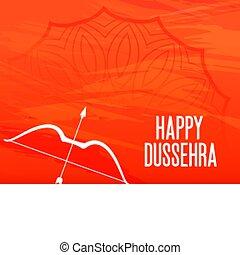 dussehra, appelsin, pil, glade, hils, bøje sig, festival