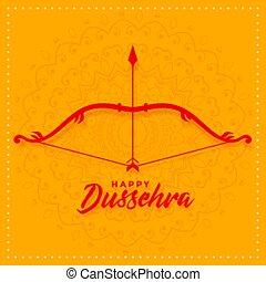 dussehra, festival, bøje sig, konstruktion, pil, card, glade