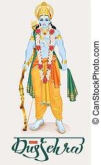 dussehra, festival, hindou, heureux