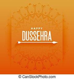 dussehra, festival, konstruktion, pil, card, glade