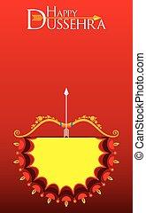 dussehra, festival, plakat, konstruktion, banner, eller,...