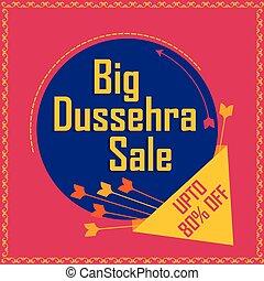 dussehra, reklame., festival, indien, omsætning, navratri,...
