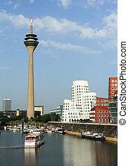 dusseldorf, deutschland, -, juni, 19:, medien, porto , auf,...