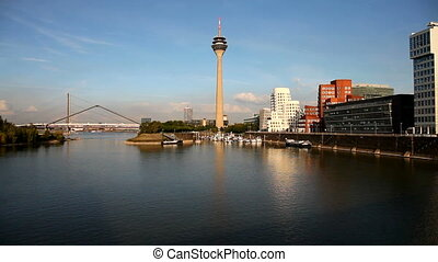 Panorama of the German city Dusseldorf